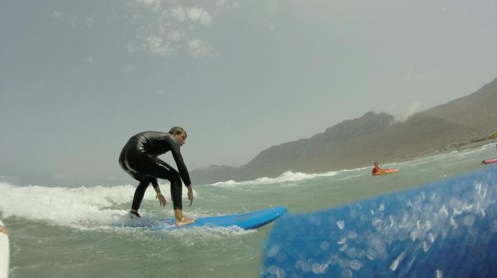 Surfing-Caleta de Famara, Lanzarote-Surf lessons in Caleta de Famara, Lanzarote-5