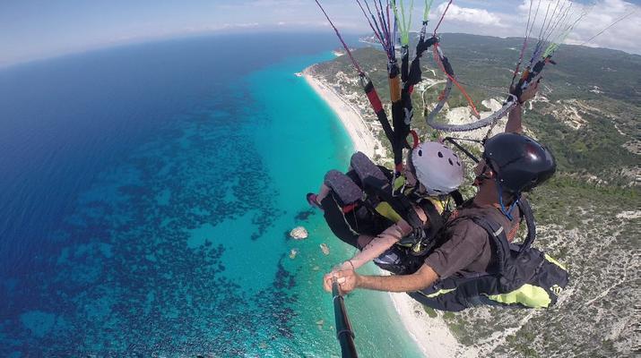Paragliding-Lefkada-Tandem Paragliding Flight over Kathisma Beach, Lefkada-3