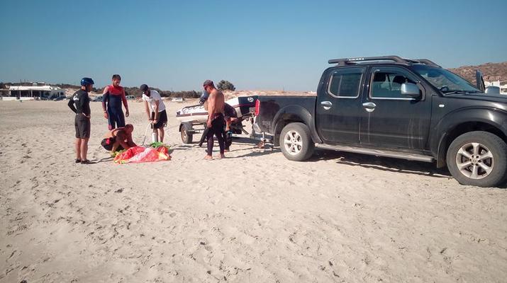 Kitesurfing-Naxos-Beginner to advanced kitesurfing courses in Mikri Vigla-3