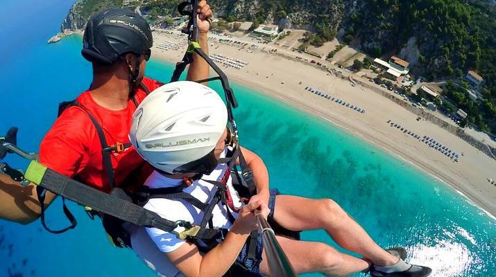 Paragliding-Lefkada-Tandem Paragliding Flight over Kathisma Beach, Lefkada-1