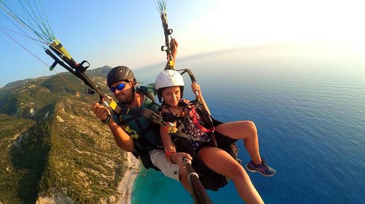 Paragliding-Lefkada-Tandem Paragliding Flight over Kathisma Beach, Lefkada-5