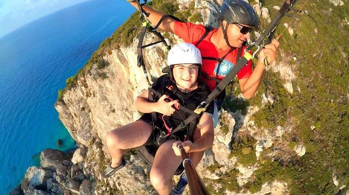 Paragliding-Lefkada-Tandem Paragliding Flight over Kathisma Beach, Lefkada-6