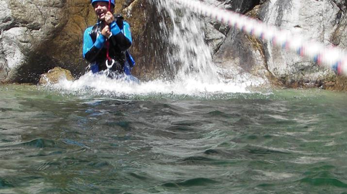 Canyoning-Ajaccio-Descente du canyon de la Richiusa à Bocognano près d'Ajaccio-6