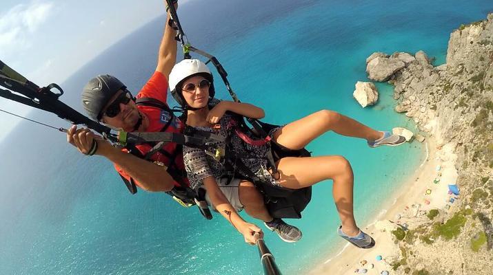 Paragliding-Lefkada-Tandem Paragliding Flight over Kathisma Beach, Lefkada-4