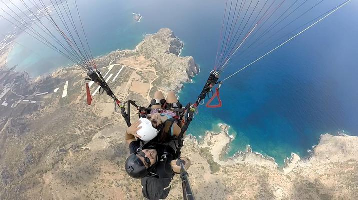 Paragliding-Chania-Tandem paragliding flight in Chania, Crete-3