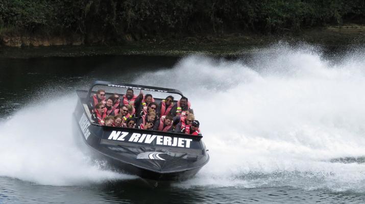 Jet Boating-Rotorua-Jet boating on the Waikato River near Rotorua-5