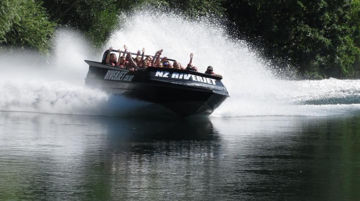 Jet Boating-Rotorua-Jet boating on the Waikato River near Rotorua-1
