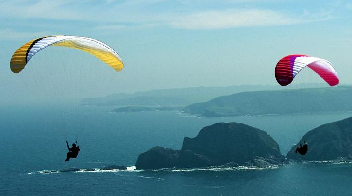 Paragliding-Biscay-Tandem Paragliding flight from Sopelana, Biscay-2