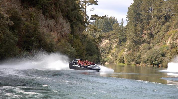 Jet Boating-Rotorua-Jet boating on the Waikato River near Rotorua-3
