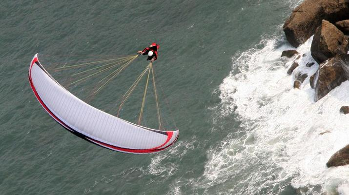 Paragliding-Biscay-Tandem Paragliding flight from Sopelana, Biscay-4