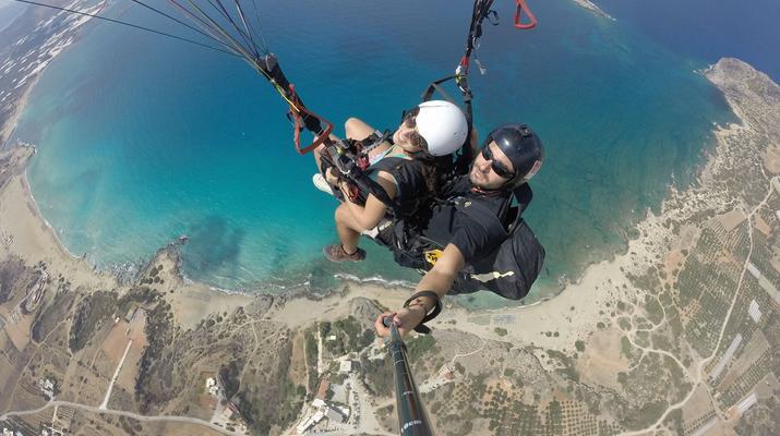 Paragliding-Chania-Tandem paragliding flight in Chania, Crete-4