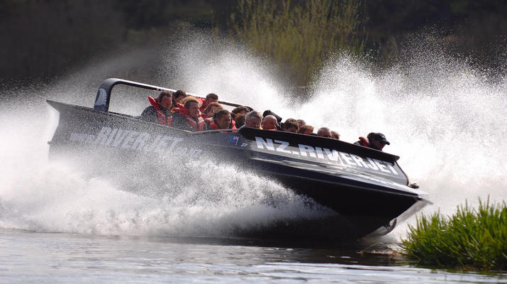 Jet Boating-Rotorua-Jet boating on the Waikato River near Rotorua-2
