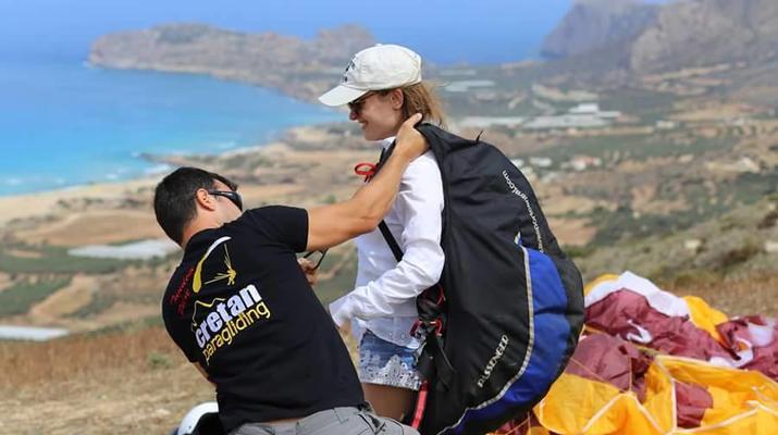 Paragliding-Chania-Tandem paragliding flight in Chania, Crete-1