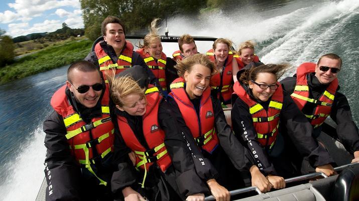 Jet Boating-Rotorua-Jet boating on the Waikato River near Rotorua-4