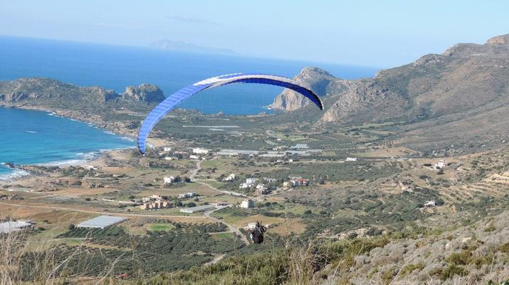 Paragliding-Chania-Tandem paragliding flight in Chania, Crete-5