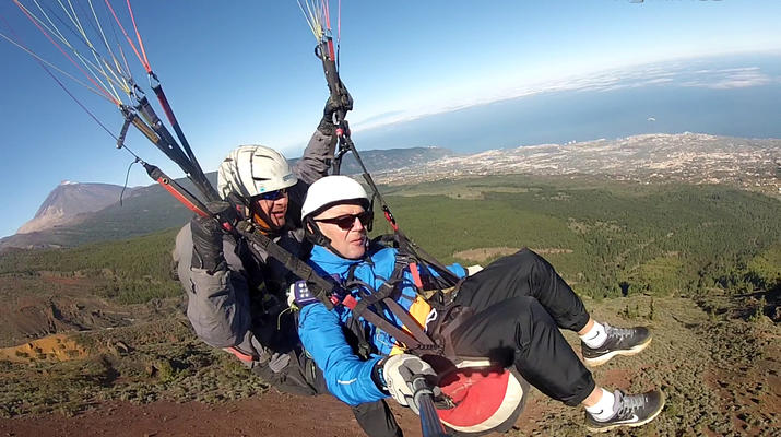 Paragliding-Teide Natural Park, Tenerife-Highest tandem paragliding flight in Europe from Mount Teide, Tenerife-5