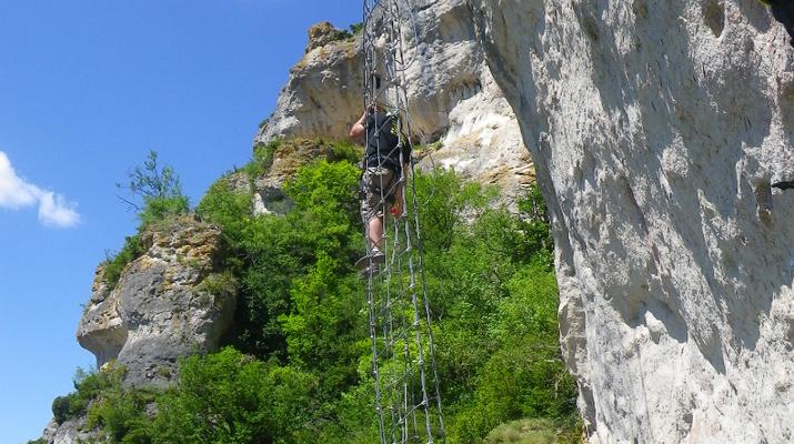 Via Ferrata-Gorges du Tarn-Via Ferrata of Liaucous in gorges du Tarn-3
