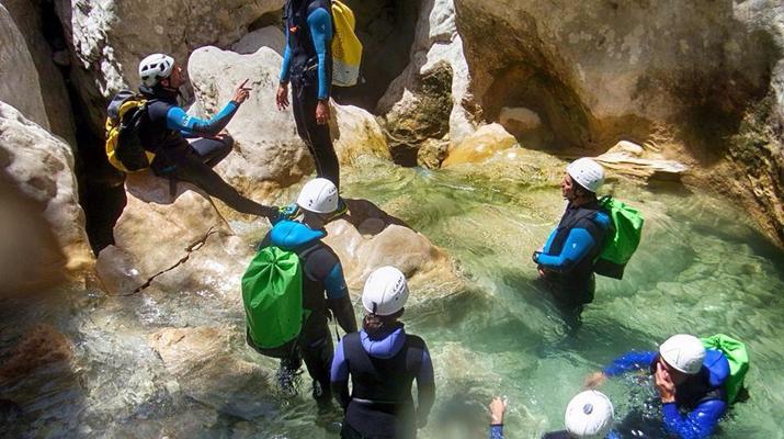 Canyoning-Sierra de Guara-Randonnée Canyoning Canyon Peonera à la Sierra de Guara, Huesca-2