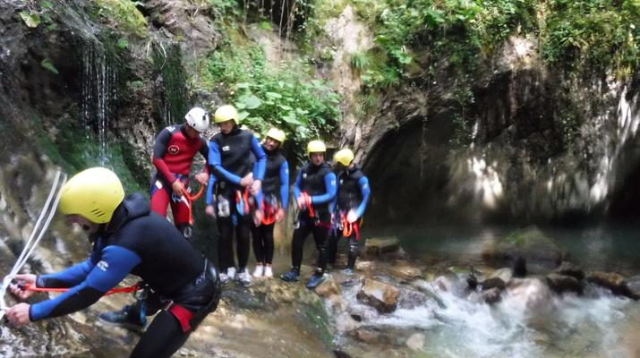 Canyoning-Laruns-Canyoning dans les Gorges du Bitet Supérieur à Laruns-1