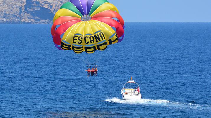 Parasailing-Santa Eulària des Riu-Parasailing flight from Es Canar, in Santa Eulària des Riu, Ibiza-5