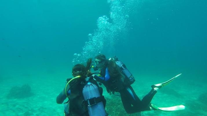Plongée sous-marine-Malte-Cours PADI Open Water dans la baie de Mellieha, Malte-5