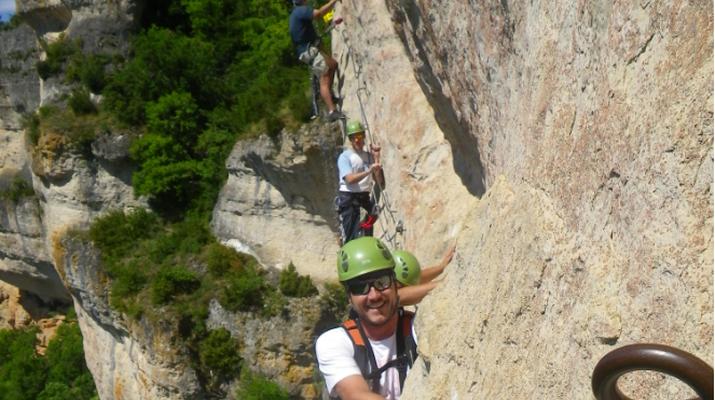 Via Ferrata-Gorges du Tarn-Via Ferrata of Liaucous in gorges du Tarn-2