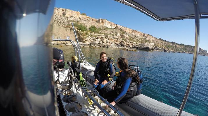 Plongée sous-marine-Malte-Cours PADI Discover Scuba Diving à Mellieha Bay, Malte-3