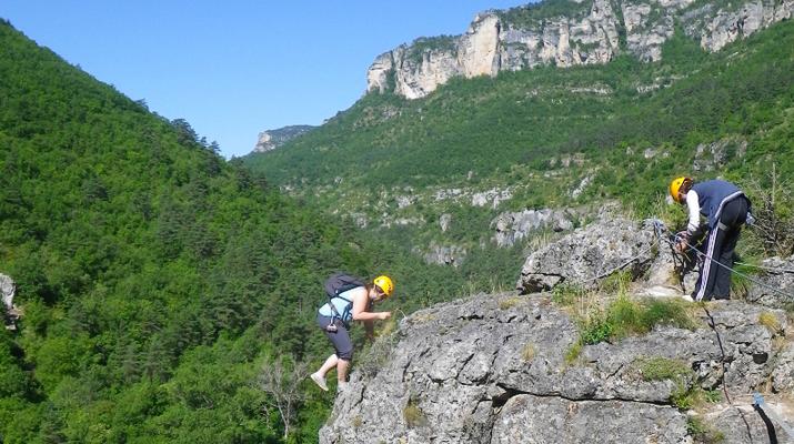 Via Ferrata-Gorges du Tarn-Via Ferrata of Liaucous in gorges du Tarn-1