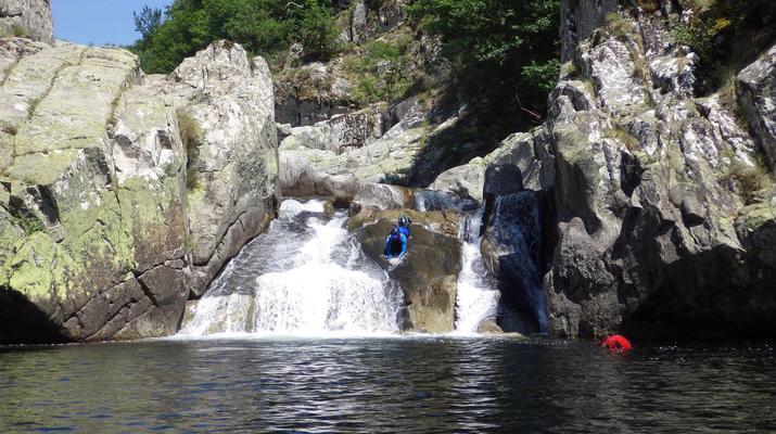 Canyoning-Parc national des Cévennes-Canyoning dans les gorges de la Dourbie, Cévennes-1