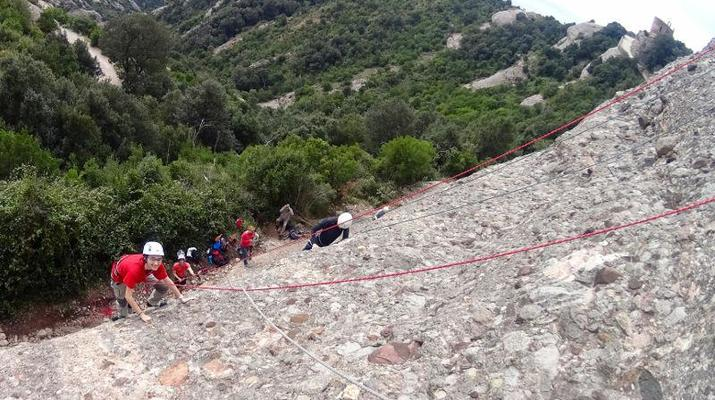 Rock climbing-Montserrat-Private rock climbing initiation in Montserrat near Barcelona-6