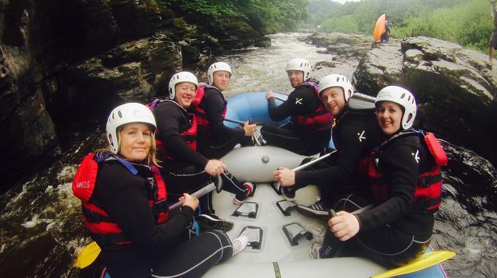 Rafting-Denbighshire-Rafting down the River Dee in Llangollen-3