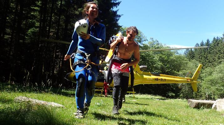 Canyoning-Ticino-Heli canyoning excursion in Boggera Canyon, Ticino-1