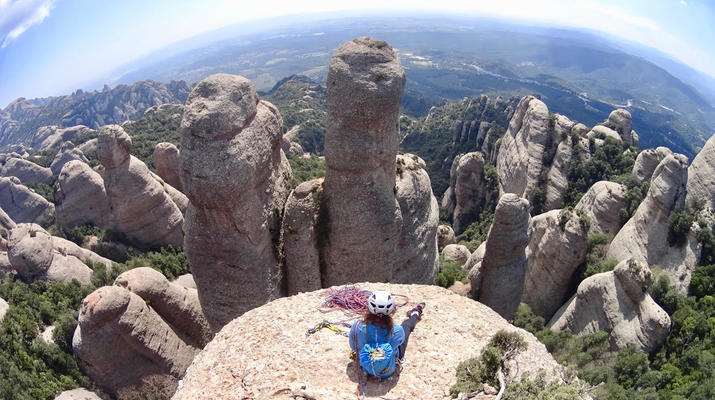 Rock climbing-Montserrat-Private rock climbing initiation in Montserrat near Barcelona-1