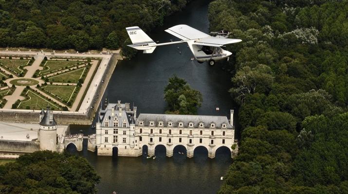 U.L.M-Tours-Baptême ULM à Chenonceau au-dessus des Châteaux de la Loire-1