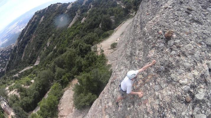 Rock climbing-Montserrat-Private rock climbing initiation in Montserrat near Barcelona-2