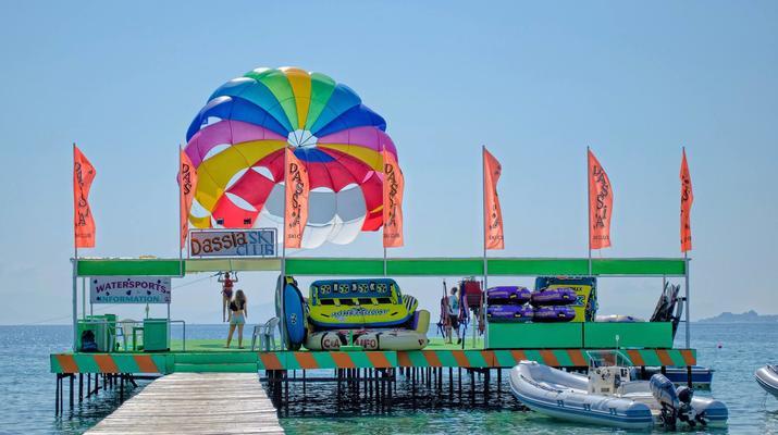 Parasailing-Corfu-Parasailing flight in Dassia beach, Corfu-1
