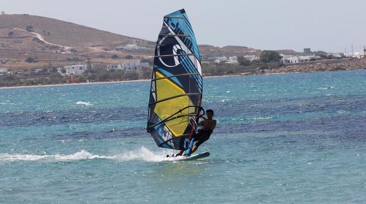 Windsurfing-Paros-Windsurfing lessons in Pounda, Paros-1