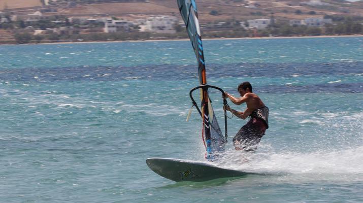 Windsurfing-Paros-Windsurfing lessons in Pounda, Paros-3