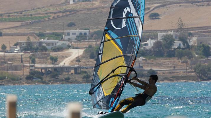 Windsurfing-Paros-Windsurfing lessons in Pounda, Paros-5