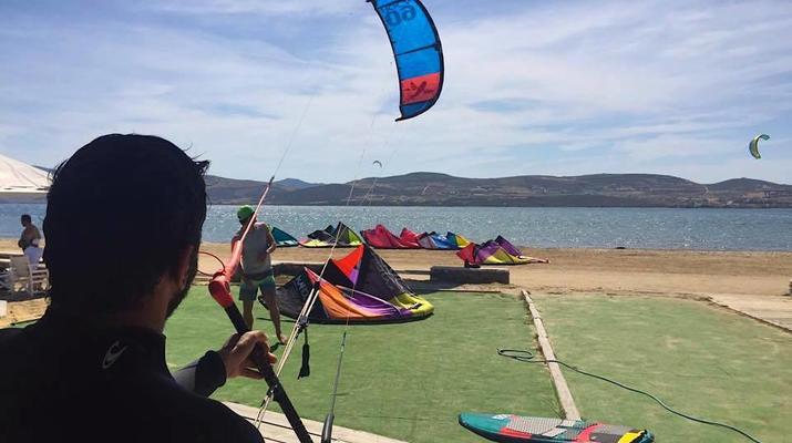 Kitesurfing-Paros-IKO Kitesurfing courses in Pounda, Paros-5