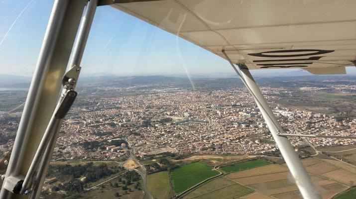 Microlight flying-Toulouse-Microlight plane first flight near Toulouse-5