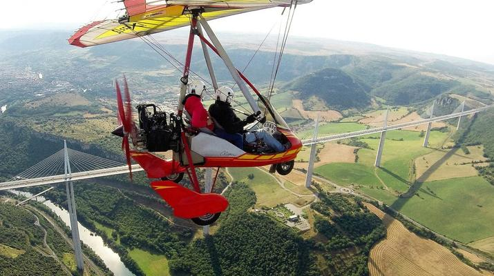 Microlight flying-Toulouse-Microlight plane first flight near Toulouse-8