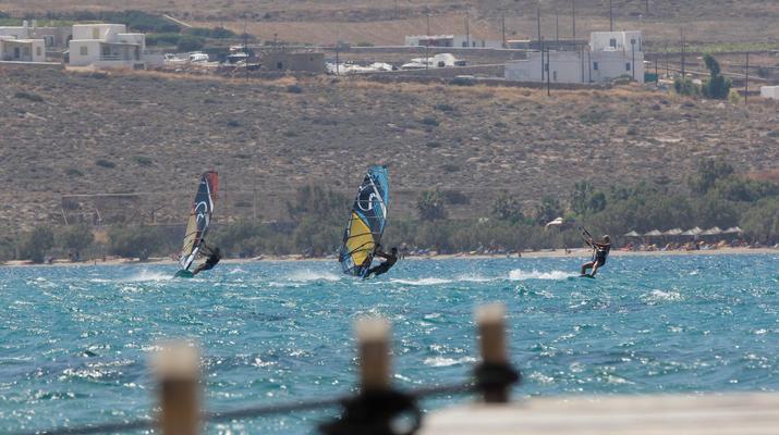 Windsurfing-Paros-Windsurfing lessons in Pounda, Paros-2