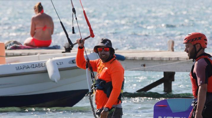 Kitesurfing-Paros-IKO Kitesurfing courses in Pounda, Paros-3