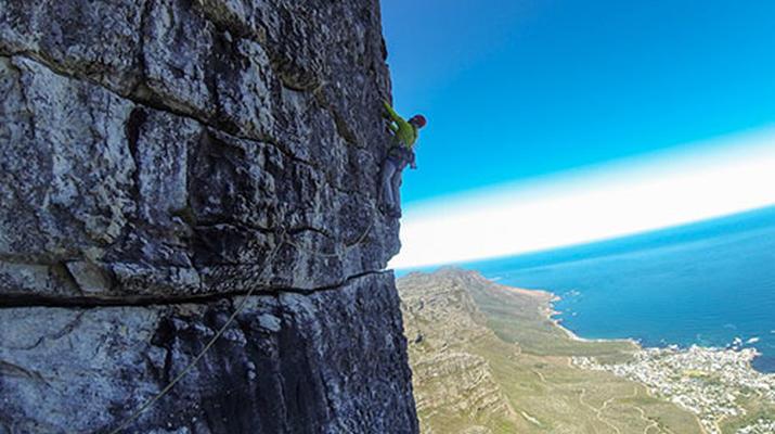 Rock climbing-Cape Town-Rock climbing up Table Mountain-3