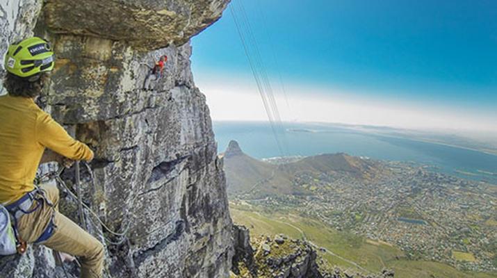 Rock climbing-Cape Town-Rock climbing up Table Mountain-1