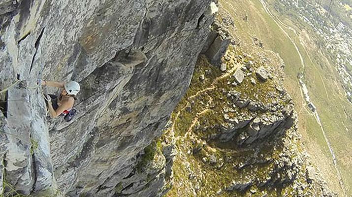 Rock climbing-Cape Town-Rock climbing up Table Mountain-2