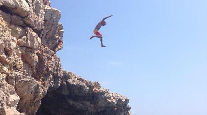 Kayak de mer-Palma, Majorque-Excursion en kayak, plongée en apnée et saut de côte à partir d'Illetas, Majorque-6