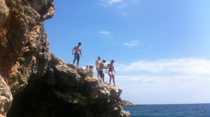 Kayak de mer-Palma, Majorque-Excursion en kayak, plongée en apnée et saut de côte à partir d'Illetas, Majorque-7