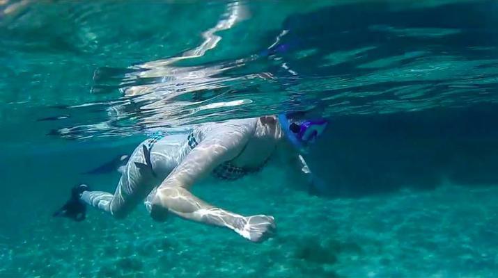 Kayak de mer-Palma, Majorque-Excursion en kayak, plongée en apnée et saut de côte à partir d'Illetas, Majorque-9